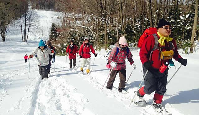 雪の学校林散策会